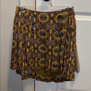 Flare free people patterned skirt